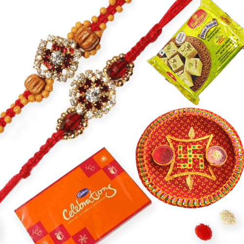 2 Diamond Rakhis for your special brothers
