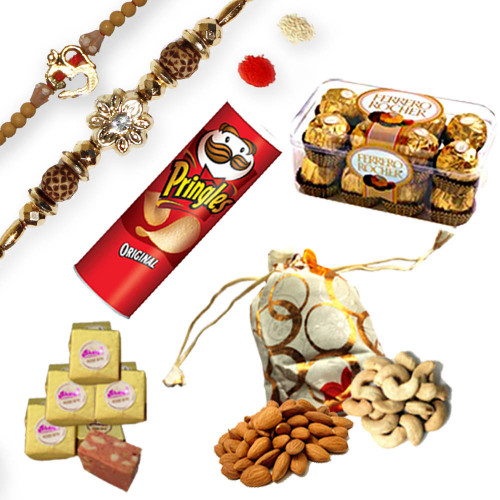 American Diamond Rakhi Thread with Om Rakhi rakhi